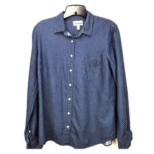 J crew boy shirt in embroidered polka dot